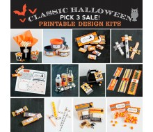 Classic Halloween Printable Design Kits - Pick 3 for $10 SALE!